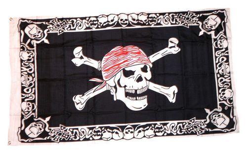 Fahne / Flagge Pirat with Triming 90 x 150 cm