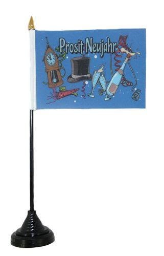 Tischfahne Silvester Prosit Neujahr 11 x 16 cm Fahne Flagge