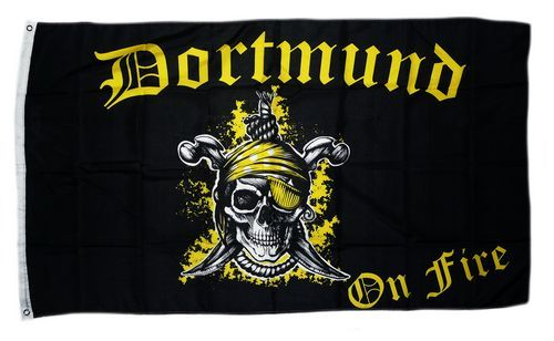 Fahne / Flagge Dortmund on Fire 90 x 150 cm