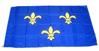 Fahne / Flagge Frankreich - Ile de France 90 x 150 cm