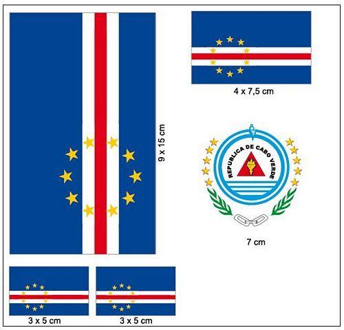 Fahnen Aufkleber Set Kap Verde