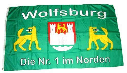 Fahne / Flagge Fußball Wolfsburg 90 x 150 cm