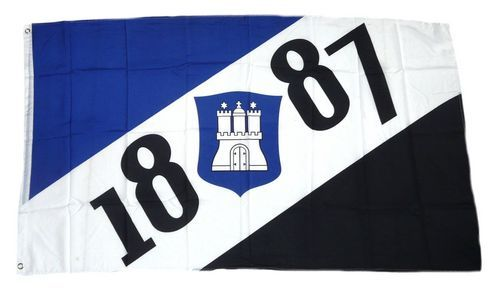 Fahne / Flagge Hamburg 1887 90 x 150 cm