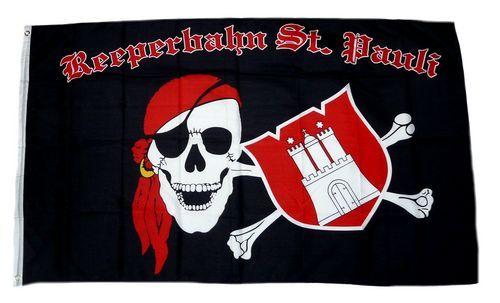 Fahne / Flagge St. Pauli Reeperbahn 90 x 150 cm