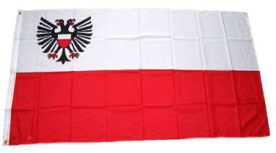 Aufkleber Quickborn Flagge Fahne 8 x 5 cm Autoaufkleber Sticker