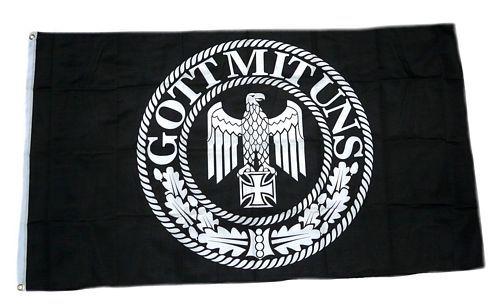 Fahne / Flagge Gott mit uns Kaiserreich 90 x 150 cm