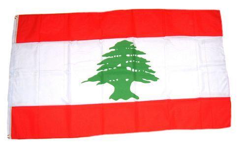 Flagge / Fahne Libanon Hissflagge 90 x 150 cm