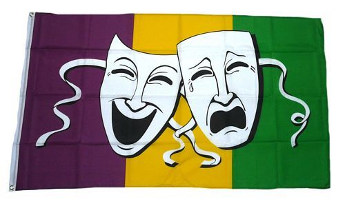 Fahne / Flagge Comedy & Tragedy 90 x 150 cm