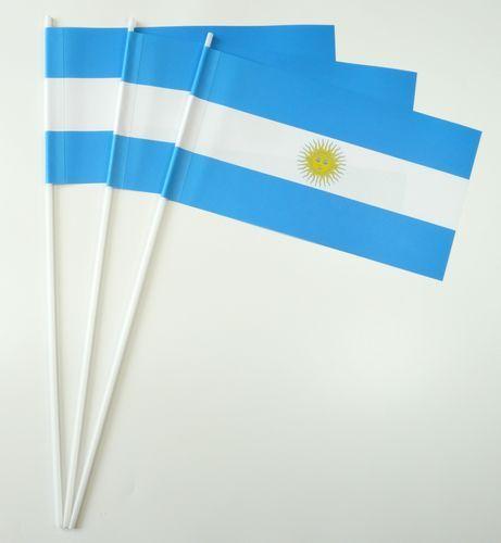10 Papierfähnchen Argentinien Papierfahnen Fahne Flagge