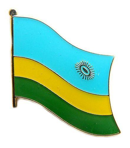 Fahnen Anstecker Pin Ruanda