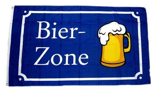 Fahne / Flagge Bier Zone 90 x 150 cm