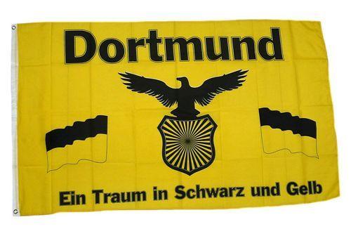 Fahne / Flagge Dortmund Adler 90 x 150 cm