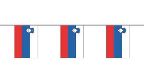 Flaggenkette Slowenien 6 m