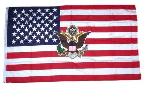 Fahne / Flagge USA - Präsident weiß 90 x 150 cm