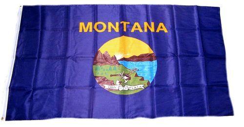 Fahne / Flagge USA - Montana 90 x 150 cm
