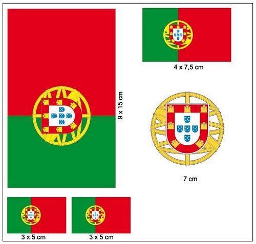 Fahnen Aufkleber Set Portugal