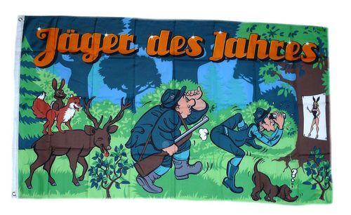 Fahne / Flagge Jäger des Jahres 90 x 150 cm