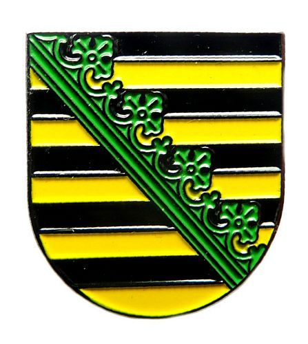 Pin Sachsen Wappen Anstecker NEU Anstecknadel