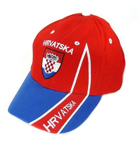Basecap Kroatien rot