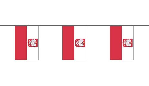 Flaggenkette Polen Adler 6 m