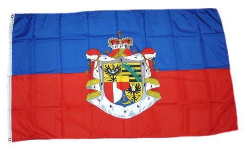 Flagge / Fahne Liechtenstein großes Wappen Hissflagge 90 x 150 cm