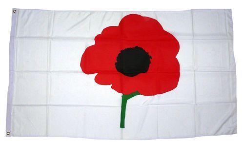 Fahne / Flagge Poppy Mohnblume 90 x 150 cm