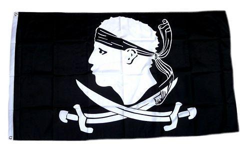 Fahne / Flagge Pirat Korsika 90 x 150 cm