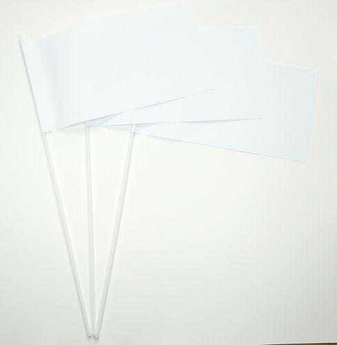 10 Papierfähnchen weiß Papierfahnen Fahne Flagge
