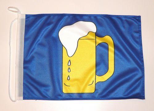 Bootsflagge Bier 30 x 45 cm