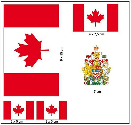 Fahnen Aufkleber Set Kanada