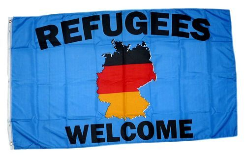 Fahne / Flagge Refugees Welcome 90 x 150 cm