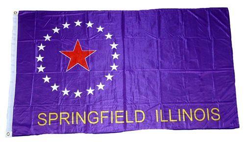 Fahne / Flagge USA - Springfield 90 x 150 cm