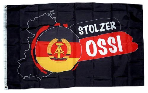 Fahne / Flagge Stolzer Ossi DDR 90 x 150 cm