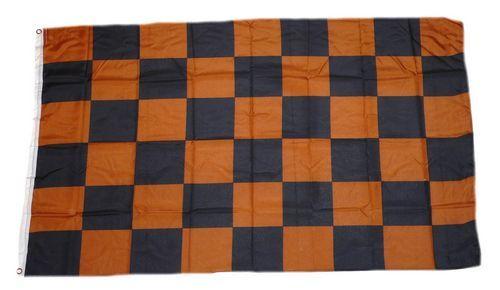 Fahne / Flagge Karo braun / schwarz 90 x 150 cm