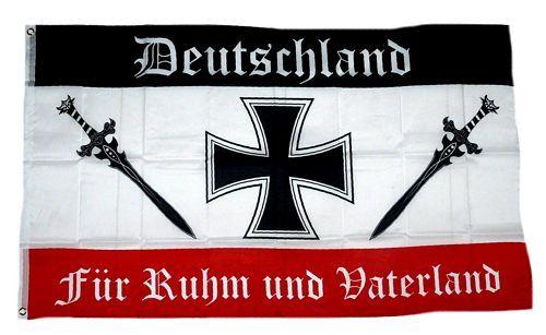 Fahne Flagge Deutschland Ruhm Und Vaterland Deutschland