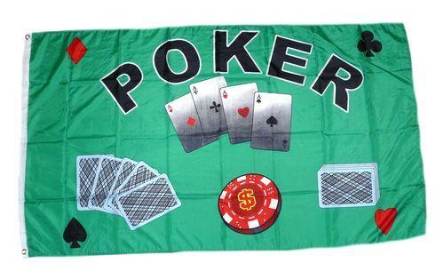 Fahne / Flagge Poker Royal Flush 90 x 150 cm