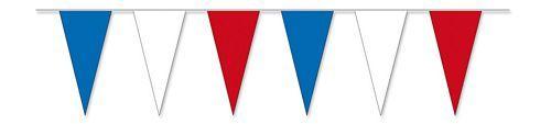 Wimpelkette blau / weiß / rot