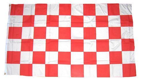 Fahne / Flagge Karo rot / weiß 90 x 150 cm