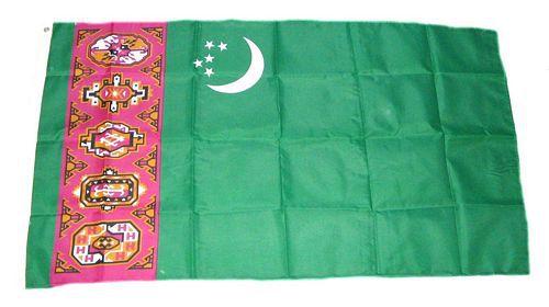 Flagge / Fahne Turkmenistan Hissflagge 90 x 150 cm