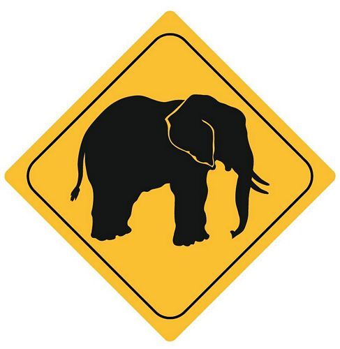 Autoaufkleber Sticker Achtung Elefant NEU Aufkleber