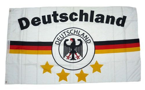 Fahne / Flagge Deutschland 4 Sterne Streifen 90 x 150 cm