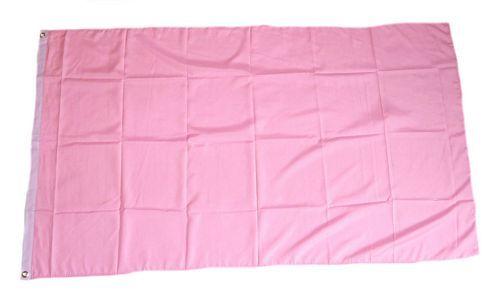 Fahne / Flagge Einfarbig Rosa 150 x 250 cm