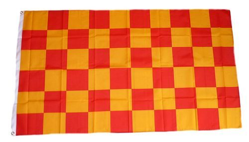 Fahne / Flagge Karo gelb / rot 90 x 150 cm