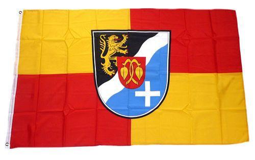 Flagge / Fahne Rhein Pfalz Kreis Hissflagge 90 x 150 cm