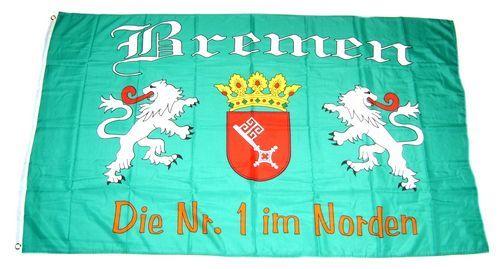 Fahne / Flagge Fußball Bremen 90 x 150 cm