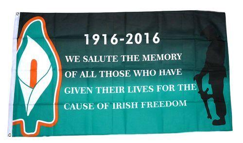 Fahne / Flagge 100 Jahre Osteraufstand Irland 90 x 150 cm