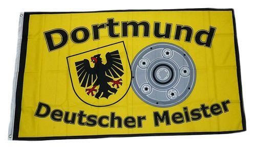 Fahne / Flagge Dortmund Deutscher Meister Schale 90 x 150 cm