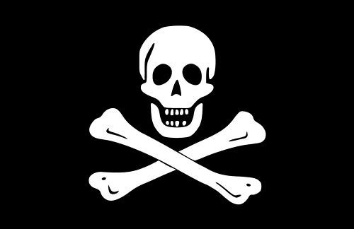 Fahnen Aufkleber Sticker Pirat Freibeuter