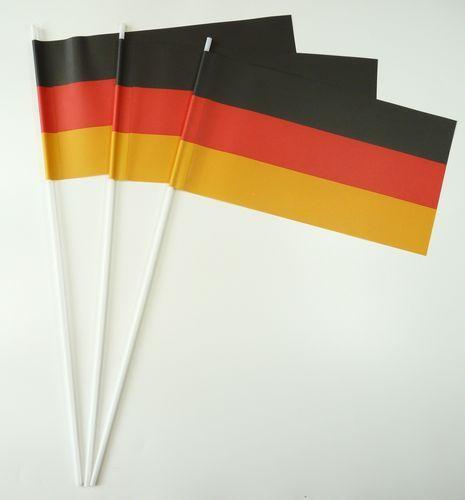 10 Papierfähnchen Deutschland Papierfahnen Fahne Flagge