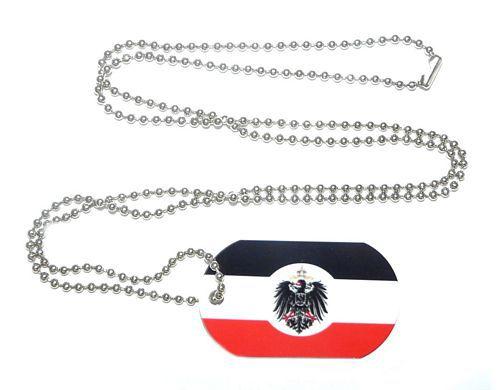Erkennungsmarke Deutsches Reich Kolonialamt Dog Tag 30 x 50 mm Fahnen Flaggen